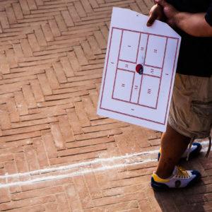 Il segnapunti dopo un centro pieno da 5 punti effettuato durante le prove (Arezzo 2009)
