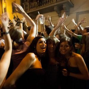 Momenti di festa la sera precedente la Giostra (Arezzo 2009)