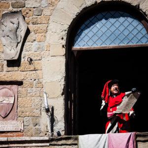 L'araldo  chiama al campo le rappresentanze (Arezzo 2009)