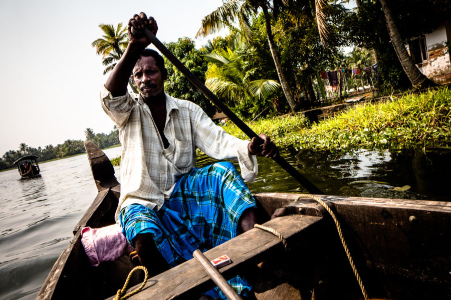 Attraverso le backwater del Kerala (India 2015)